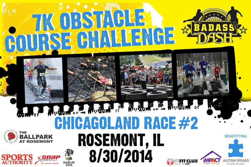Register today Chicagoland BADASS Dash Race 2